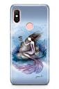Lopard Xiaomi Redmi Note 6 Pro Kılıf Silikon Arka Kapak Koruyucu Deniz Kızı Desenli Yeşim Livaoğlu Tasarımı Renkli